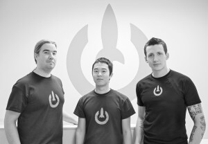 LaunchKey co-founders Geoff Sanders, Yo Sub Kwon and Devin Egan